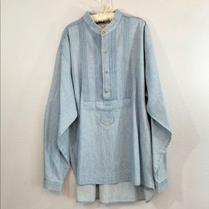 Scully Western Frontier Pullover Denim Shirt